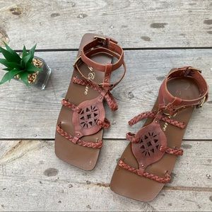 Juicy Couture Brown Leather Sandals